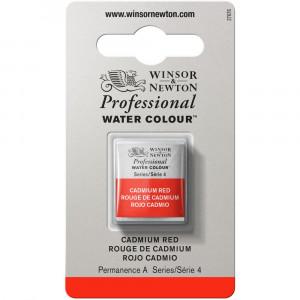 Tinta Aquarela Profissional Winsor & Newton Pastilha S4 094 Cadmium Red