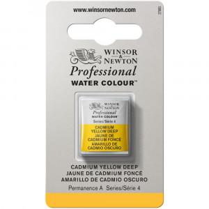 Tinta Aquarela Profissional Winsor & Newton Pastilha S4 111 Cadmium Yellow Deep