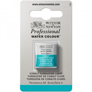 Tinta Aquarela Profissional Winsor & Newton Pastilha S4 191 Cobalt Turquoise Light