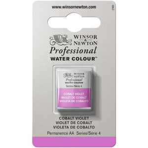 Tinta Aquarela Profissional Winsor & Newton Pastilha S4 192 Cobalt Violet