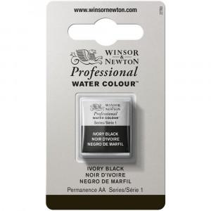 Tinta Aquarela Profissional Winsor & Newton Pastilha S1 331 Ivory Black