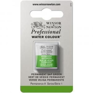 Tinta Aquarela Profissional Winsor & Newton Pastilha S1 503 Permanent Sap Green