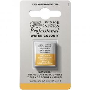 Tinta Aquarela Profissional Winsor & Newton Pastilha S1 554 Raw Umber