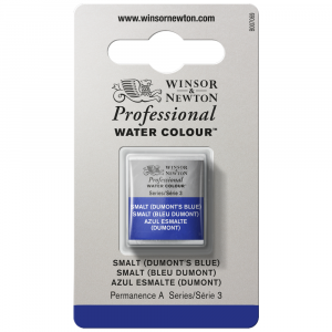 Tinta Aquarela Profissional Winsor & Newton Pastilha S3 710 Smalt (Dumont's Blue)