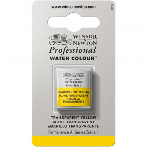 Tinta Aquarela Profissional Winsor & Newton Pastilha S1 653 Transparent Yellow