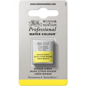 Tinta Aquarela Profissional Winsor & Newton Pastilha S1 722 Winsor Lemon