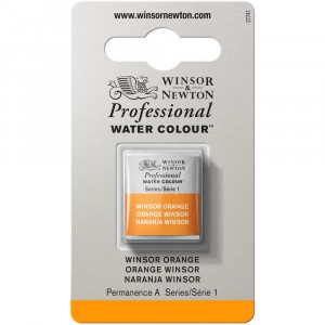 Tinta Aquarela Profissional Winsor & Newton Pastilha S1 724 Winsor Orange