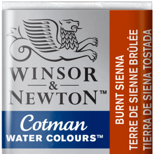Aquarela Cotman W&N Pastilha 074 Burnt Sienna
