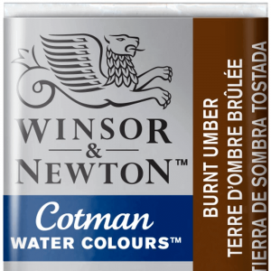 Aquarela Cotman W&N Pastilha 076 Burnt Umber