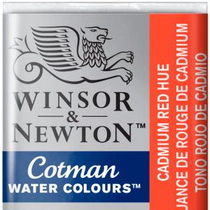 Aquarela Cotman W&N Pastilha 095 Cadmium Red Hue