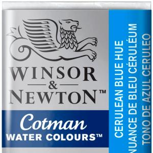Aquarela Cotman W&N Pastilha 139 Cerulean Blue Hue