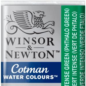 Tinta Aquarela Cotman W&N Pastilha 329 Intense Green (Phthalo Green)