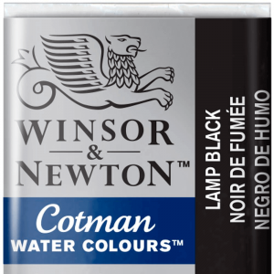 Tinta Aquarela Cotman W&N Pastilha 337 Lamp Black
