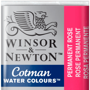 Tinta Aquarela Cotman W&N Pastilha 502 Permanent Rose