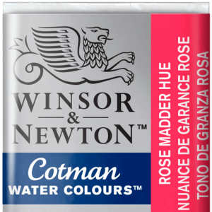 Aquarela Cotman W&N Pastilha 580 Rose Madder Hue