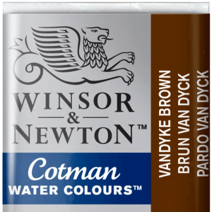 Tinta Aquarela Cotman W&N Pastilha 676 Vandyke Brown