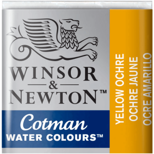 Tinta Aquarela Cotman W&N Pastilha 744 Yellow Ochre