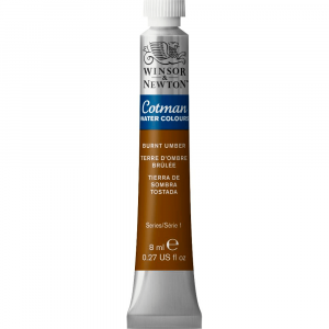 Aquarela Cotman W&N Tubo 8ml 076 Burnt Umber
