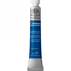 Tinta Aquarela Cotman W&N Tubo 8ml 327 Intense Blue (Phthalo Blue)