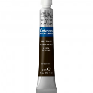 Aquarela Cotman W&N Tubo 8ml 337 Lamp Black