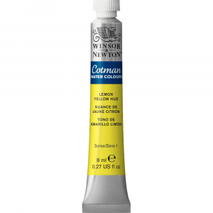 Tinta Aquarela Cotman W&N Tubo 8ml 346 Lemon Yellow Hue