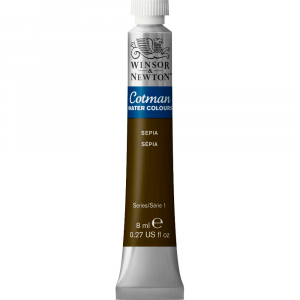 Tinta Aquarela Cotman W&N Tubo 8ml 609 Sepia