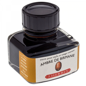 Tinta para Caneta Tinteiro Herbin La Perle des Encres 30ml Ambre de Birmanie