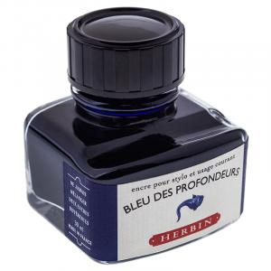 Tinta para Caneta Tinteiro Herbin La Perle des Encres 30ml Bleu Des Profondeurs