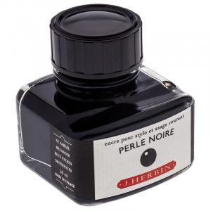 Tinta para Caneta Tinteiro Herbin La Perle des Encres 30ml Perle Noire
