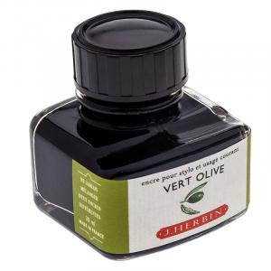 Tinta para Caneta Tinteiro Herbin La Perle des Encres 30ml Vert Olive