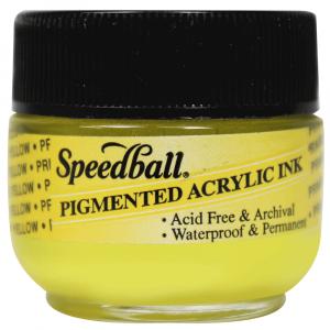 Tinta Para Caligrafia 12ml Speedball 3111 Amarelo Primario