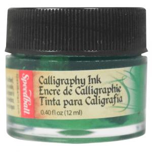 Tinta Para Caligrafia 12ml Speedball 3103 Verde Esmeralda