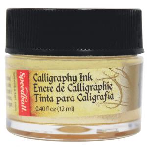 Tinta Para Caligrafia 12ml Speedball 3105 Ouro Metalico