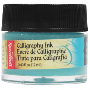 Tinta Para Caligrafia 12ml Speedball 3106 Verde Azulado