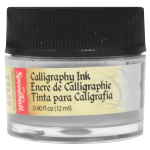 Tinta Para Caligrafia 12ml Speedball 3107 Prata Metalico