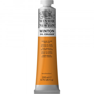 Tinta Óleo Winton 200ml Winsor & Newton 115 Cadmium Yellow Deep Hue