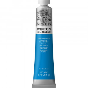 Tinta Óleo Winton 200ml Winsor & Newton 138 Cerulean Blue Hue