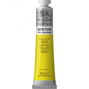 Tinta Óleo Winton 200ml Winsor & Newton 346 Lemon Yellow Hue