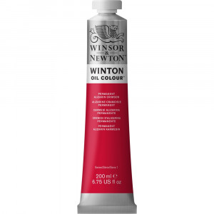 Tinta Óleo Winton 200ml Winsor & Newton 468 Permanent Alizarin Crimson
