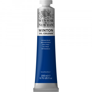 Tinta Óleo Winton 200ml Winsor & Newton 516 Phthalo Blue