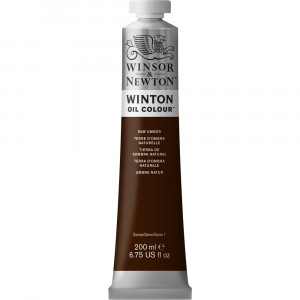 Tinta Óleo Winton 200ml Winsor & Newton 554 Raw Umber