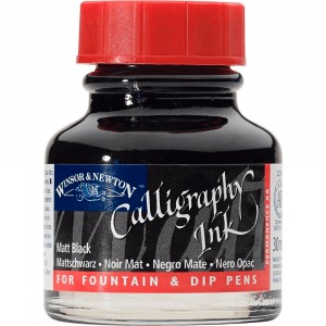 Tinta Para Caligrafia Winsor & Newton 30ml Matt Black