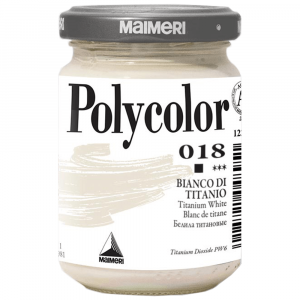 Tinta Acrílica Polycolor Maimeri 140ml 018 Titanium White