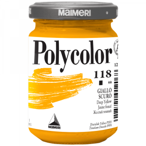 Tinta Acrílica Polycolor Maimeri 140ml 118 Deep Yellow
