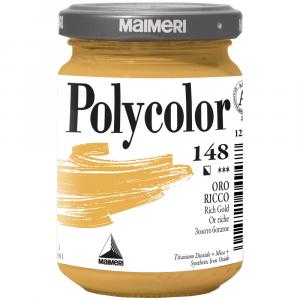 Tinta Acrílica Polycolor Maimeri 140ml 148 Rich Gold