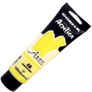 Tinta Acrílica Corfix Arts 120ml  48 Amarelo Limão G1