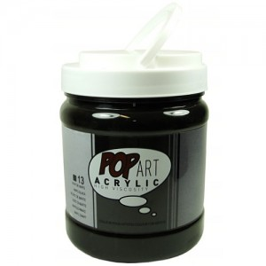 Tinta Acrílica Importada 13 Preto POP ART 700ml