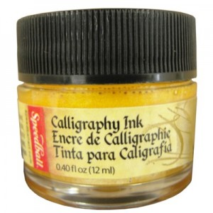 Tinta Para Caligrafia 12ml Speedball 3105 Ouro Metalico