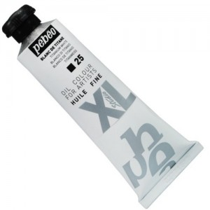 Tinta  a Óleo Pébéo XL Studio 25 Branco Titânio 37ml