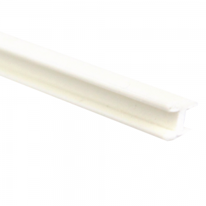 Vareta de PVC Formato H Para Encaixe 1,5 x 1000 mm